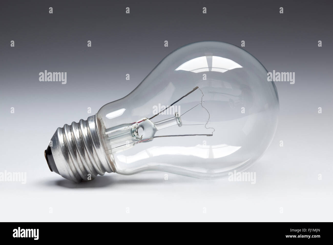 Clear lightbulb close up - Stock Image