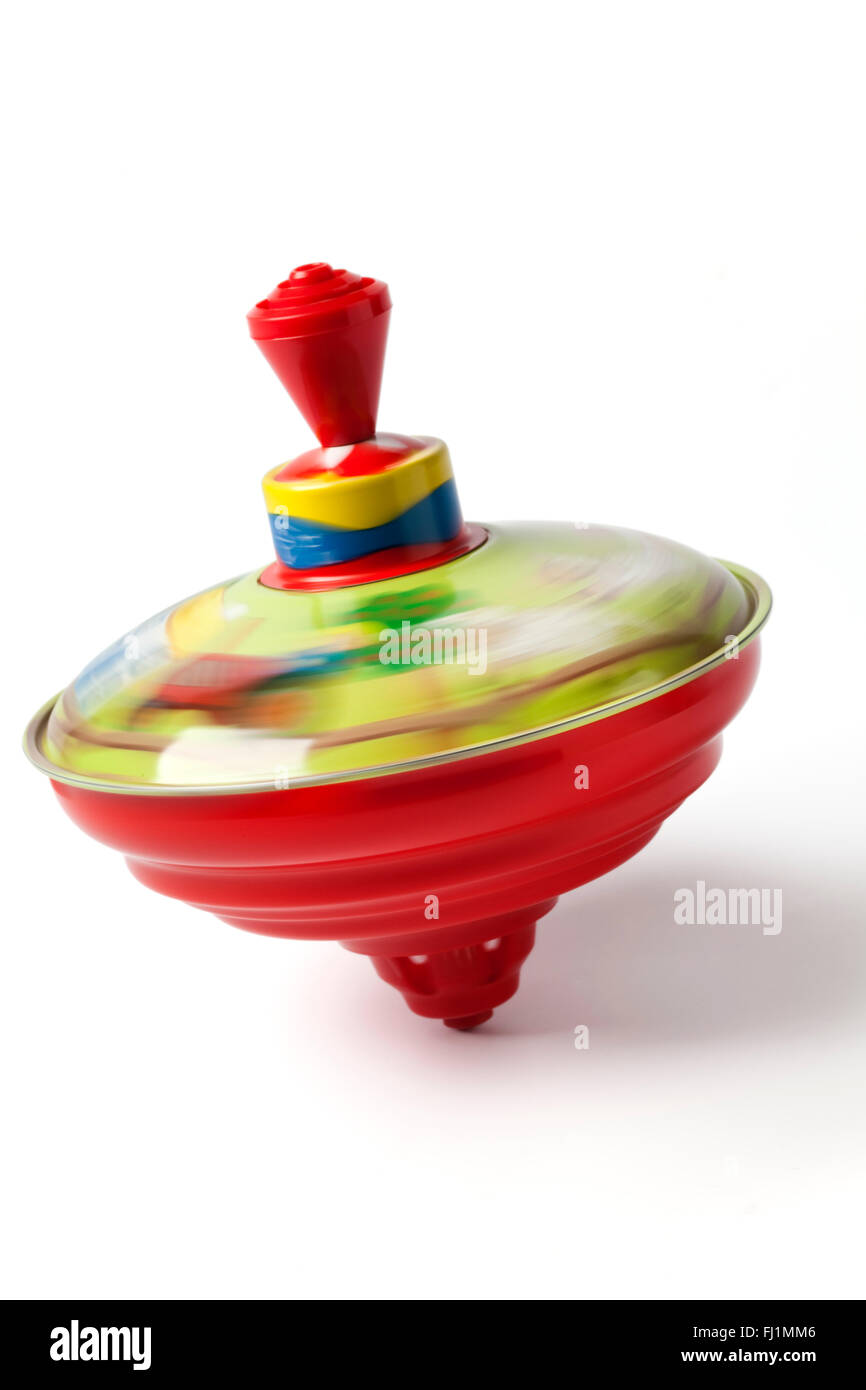 Humming or spinning top on white background - Stock Image