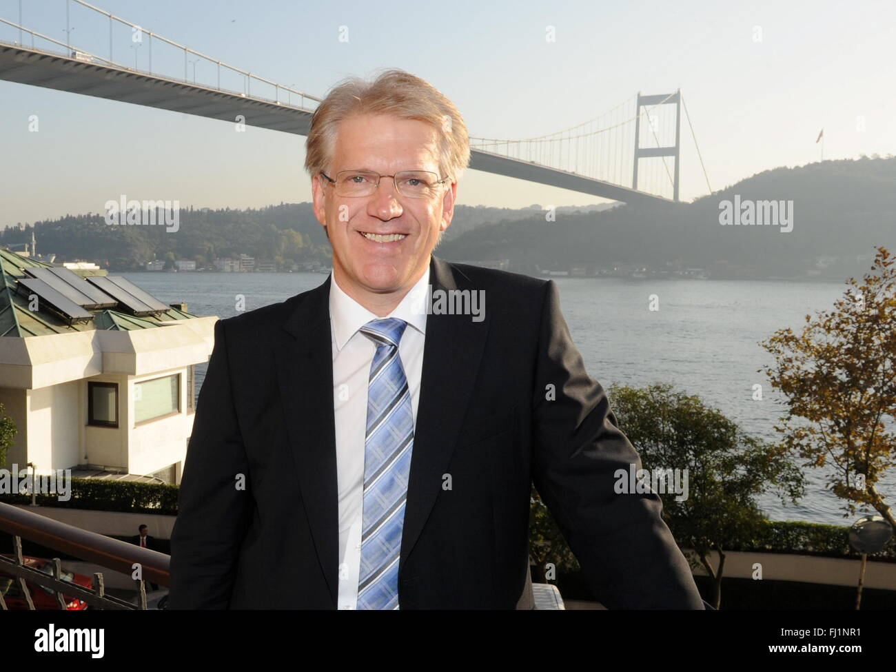 FILE - A file picture dated 17 October 2012 depicts Dieter Manz, CEO of Manz AG, a company that produces machine - Stock Image