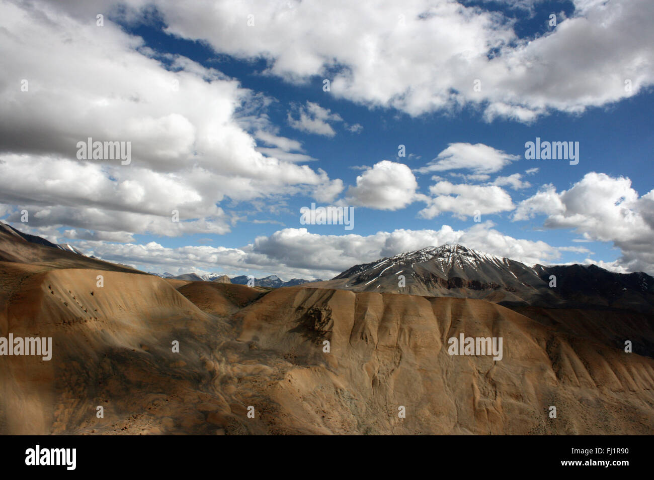 Amazing landscape on the Leh Manali road, Ladakh , India - Stock Image