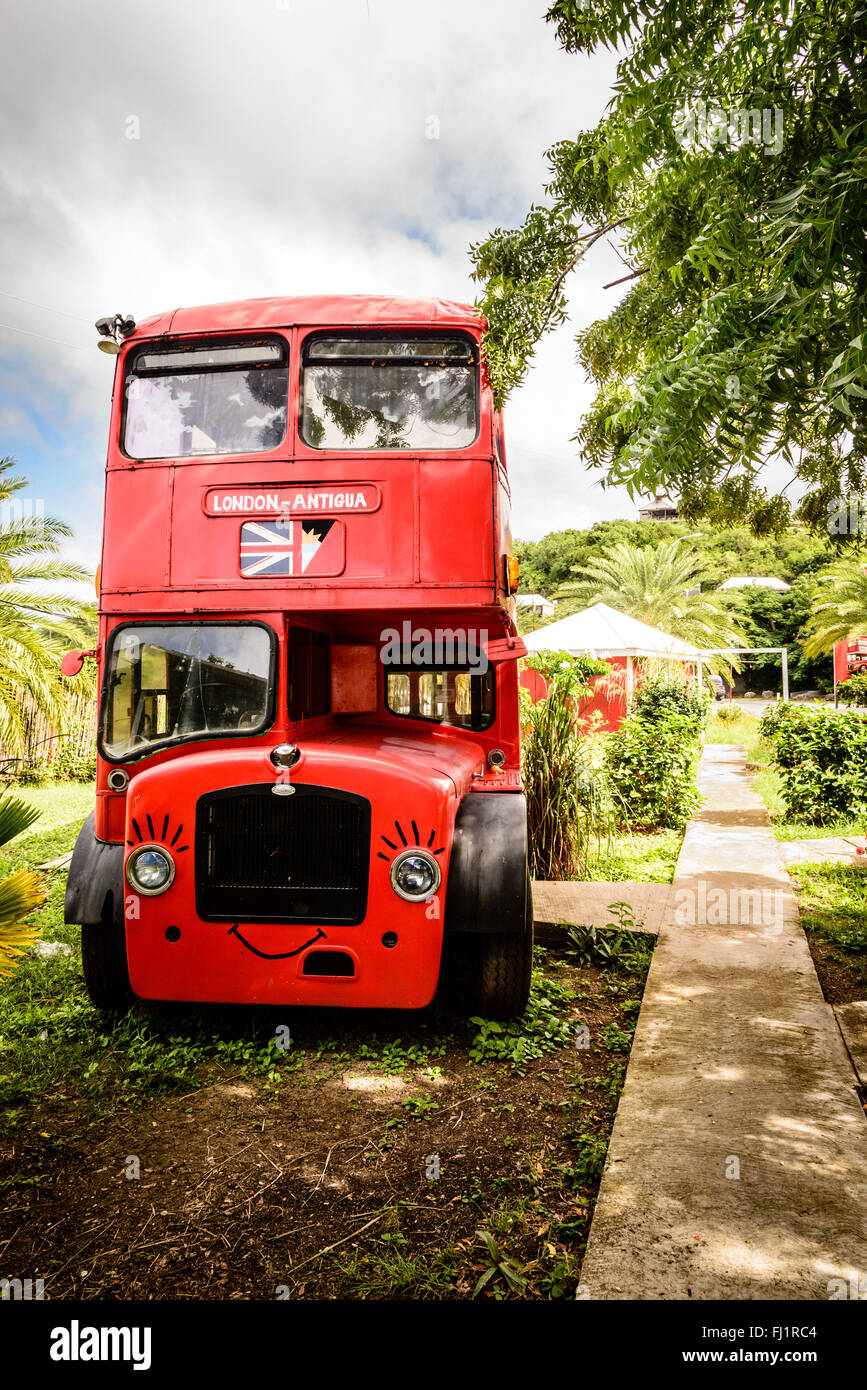 Shell's Double Decker Fish & Chips, West Coast Village, Jolly Harbour, Antigua - Stock Image