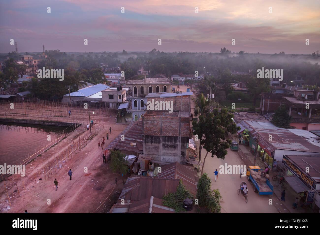 Sunset in Sreemangal , Bangladesh - Stock Image