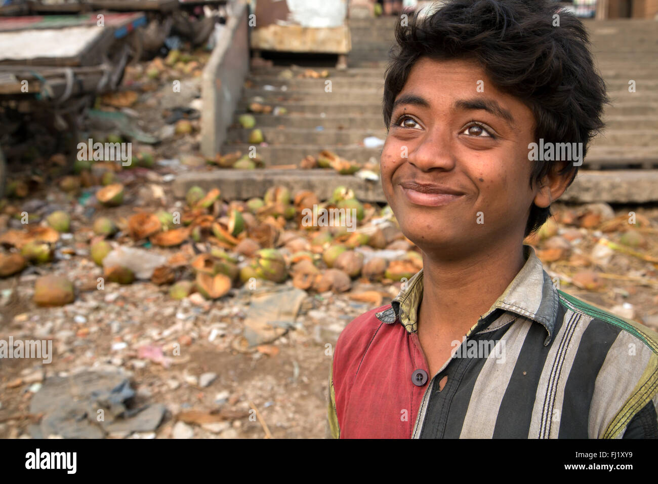 Portrait of young man in Dhaka, Bangladesh - Stock Image