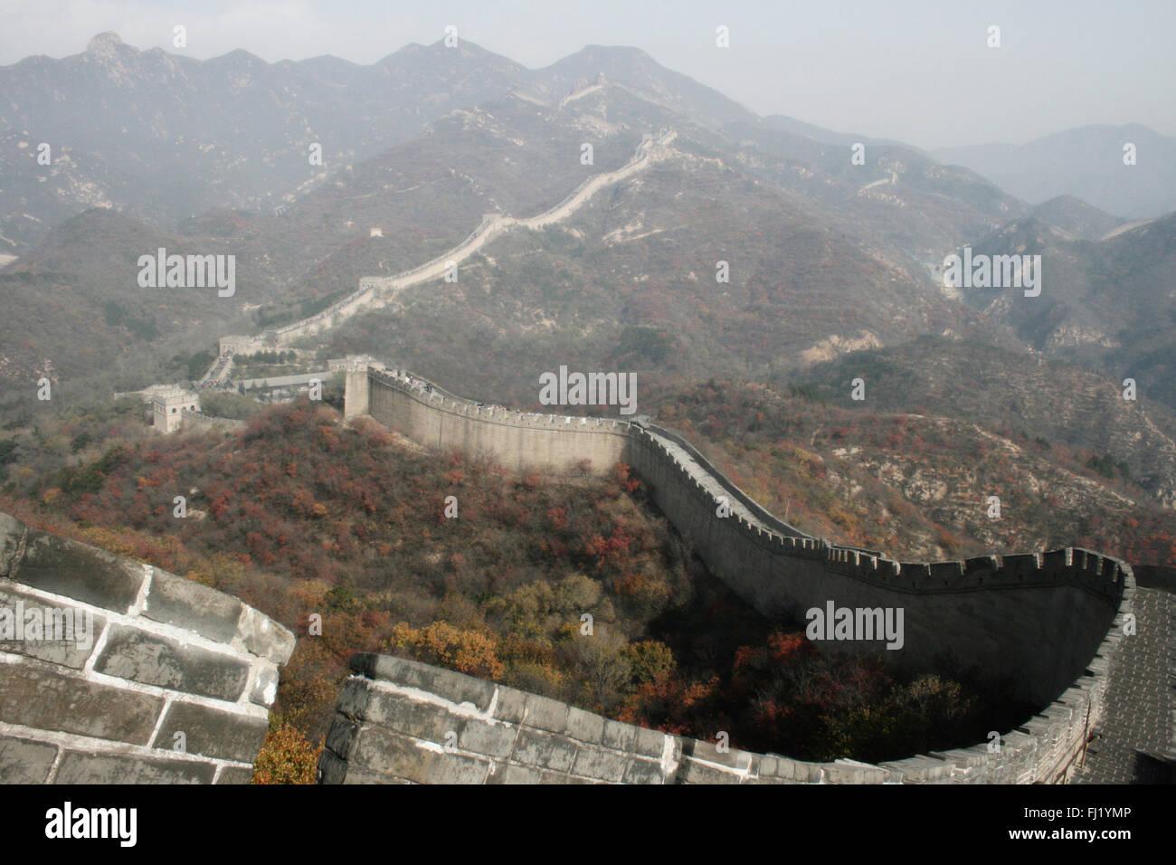The Great Wall of China at Badaling - Stock Image