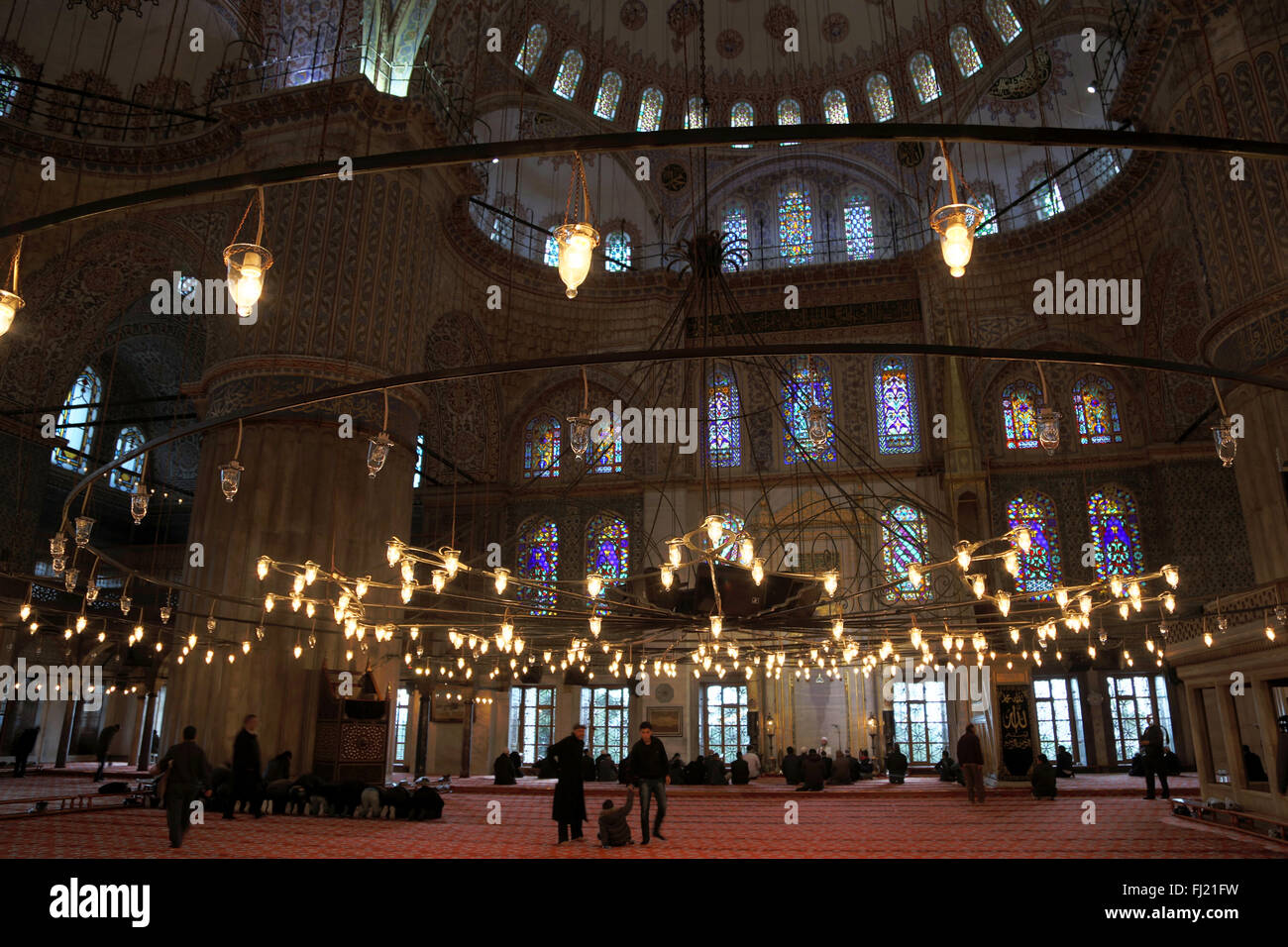 istanbul turkey places streets city monuments architecture - Stock Image