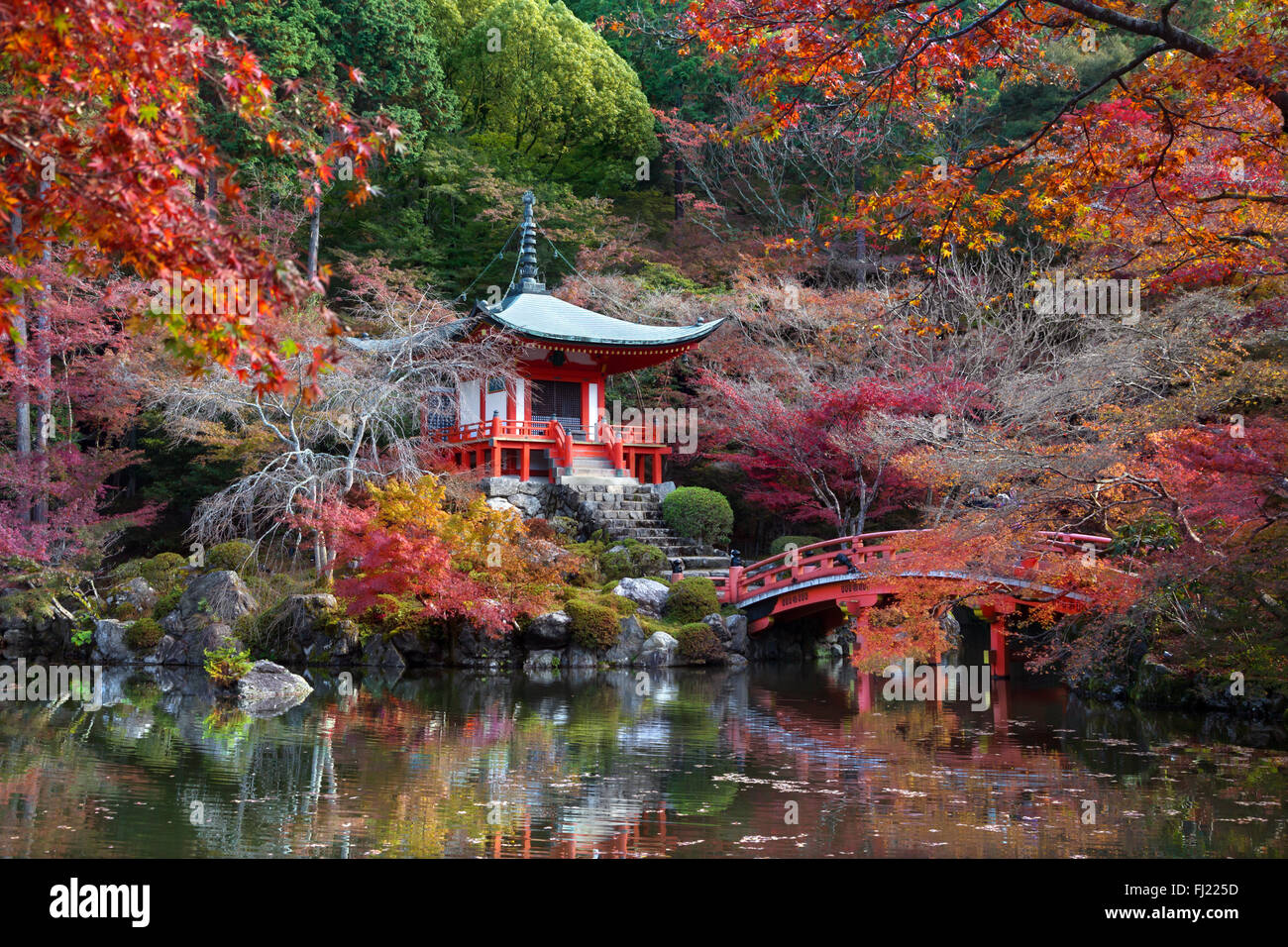 Daigoji, temple of the Shingon sect of Japanese Buddhism and a designated world heritage site by UNESCO in Kyoto - Stock Image