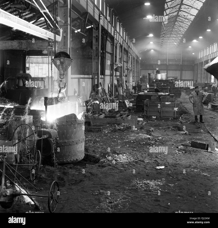 Horsehay Works Joseph Adamson Company steel iron production factory 1960s - Stock Image