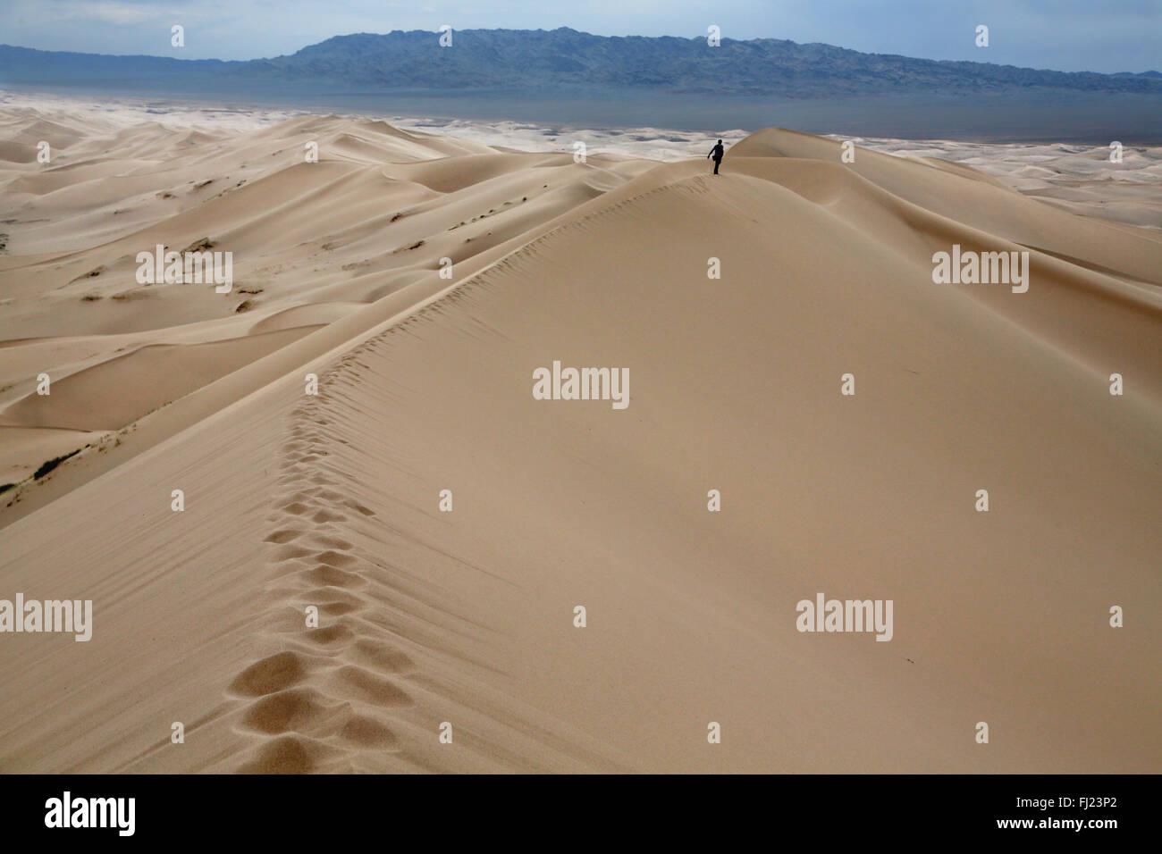Gobi sand dunes in Mongolia - Stock Image