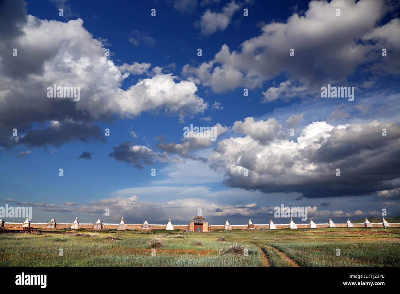 Erdene Zuu monastery  Mongolia - Stock Image