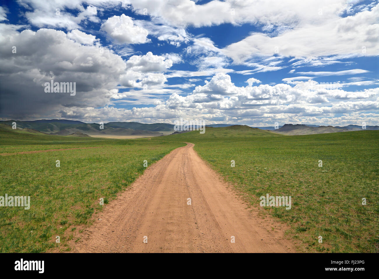 Mongolia landscape - Stock Image