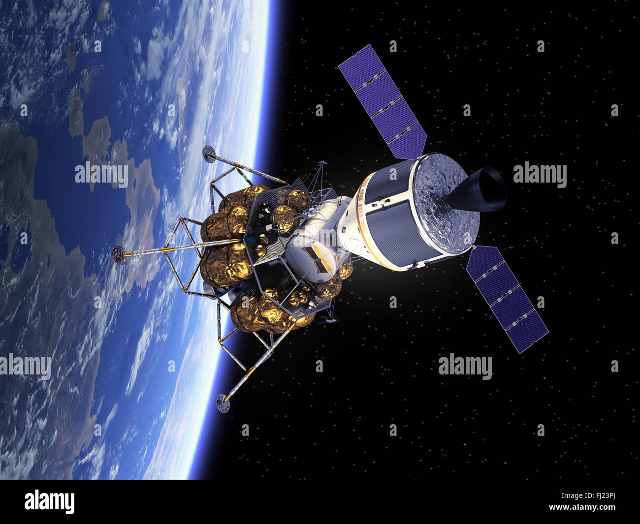Crew Exploration Vehicle In Space - Stock Image