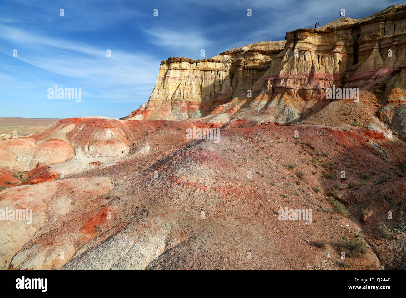 Tsagaan Suvarga - amazing landscape and place in Mongolia, located in the Southeast of the sum Ölziit on the - Stock Image