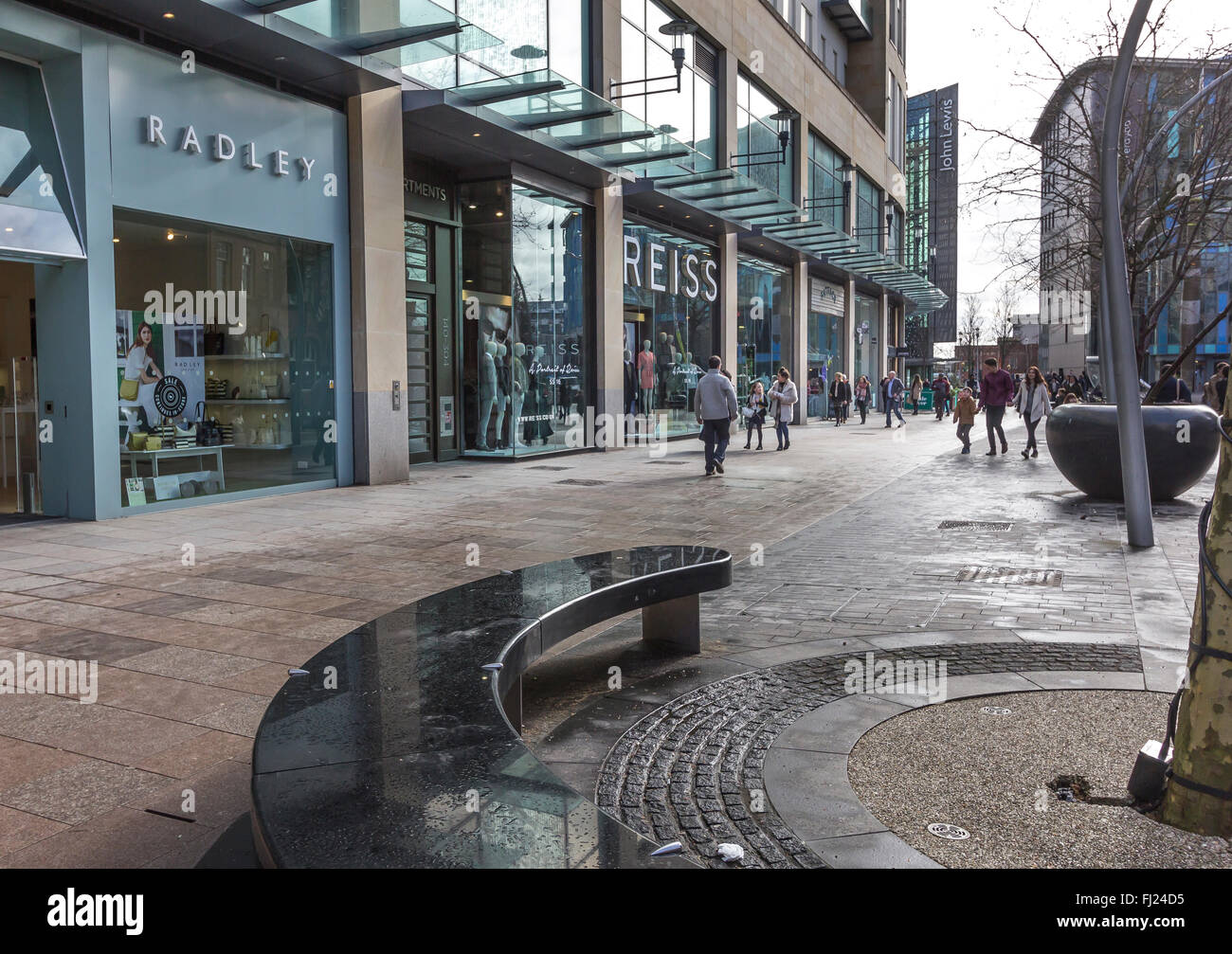 St Davids two looking towards John Lewis and the Library. - Stock Image