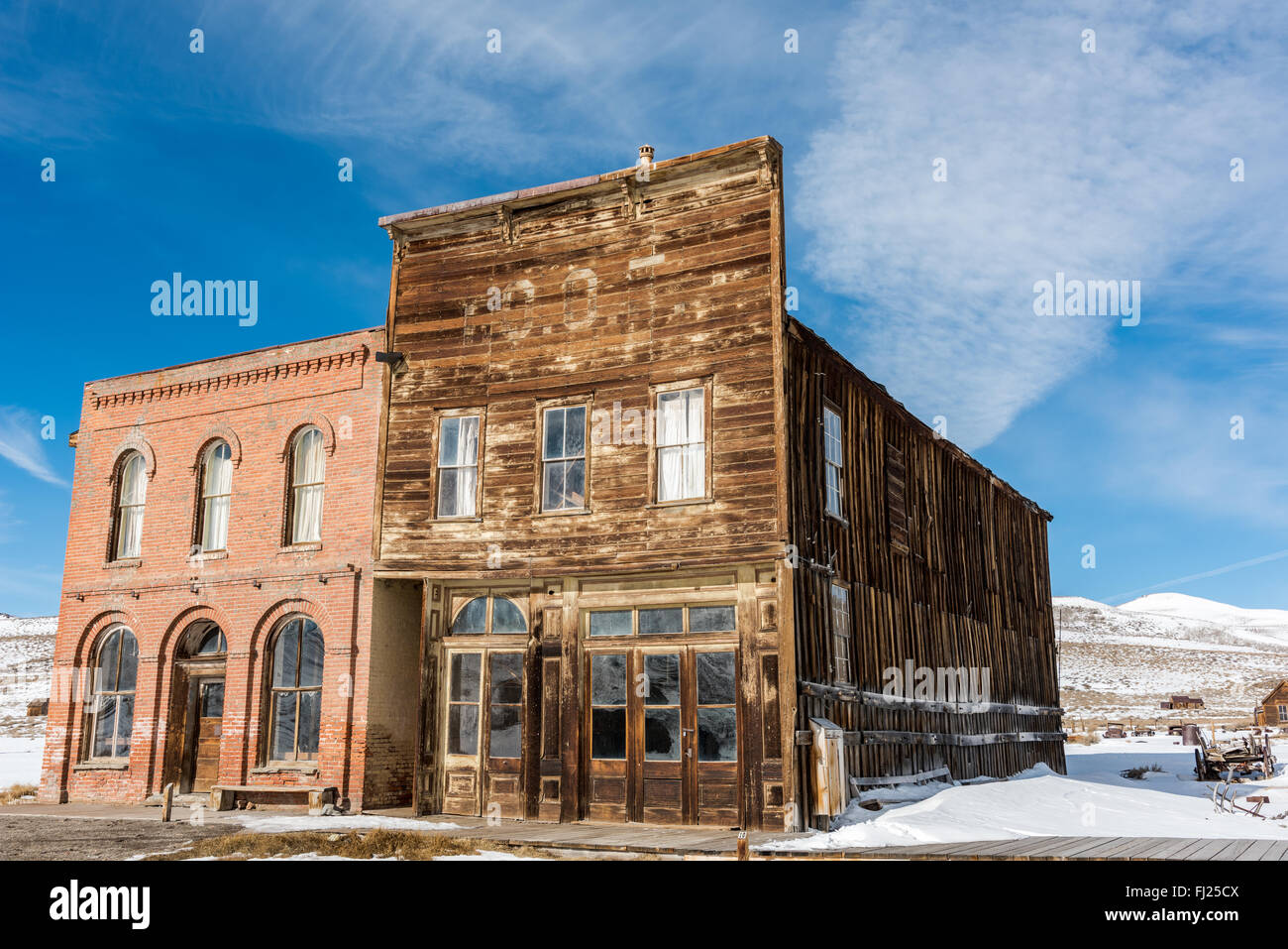Bodie is an original mining town from the late 1800's. - Stock Image