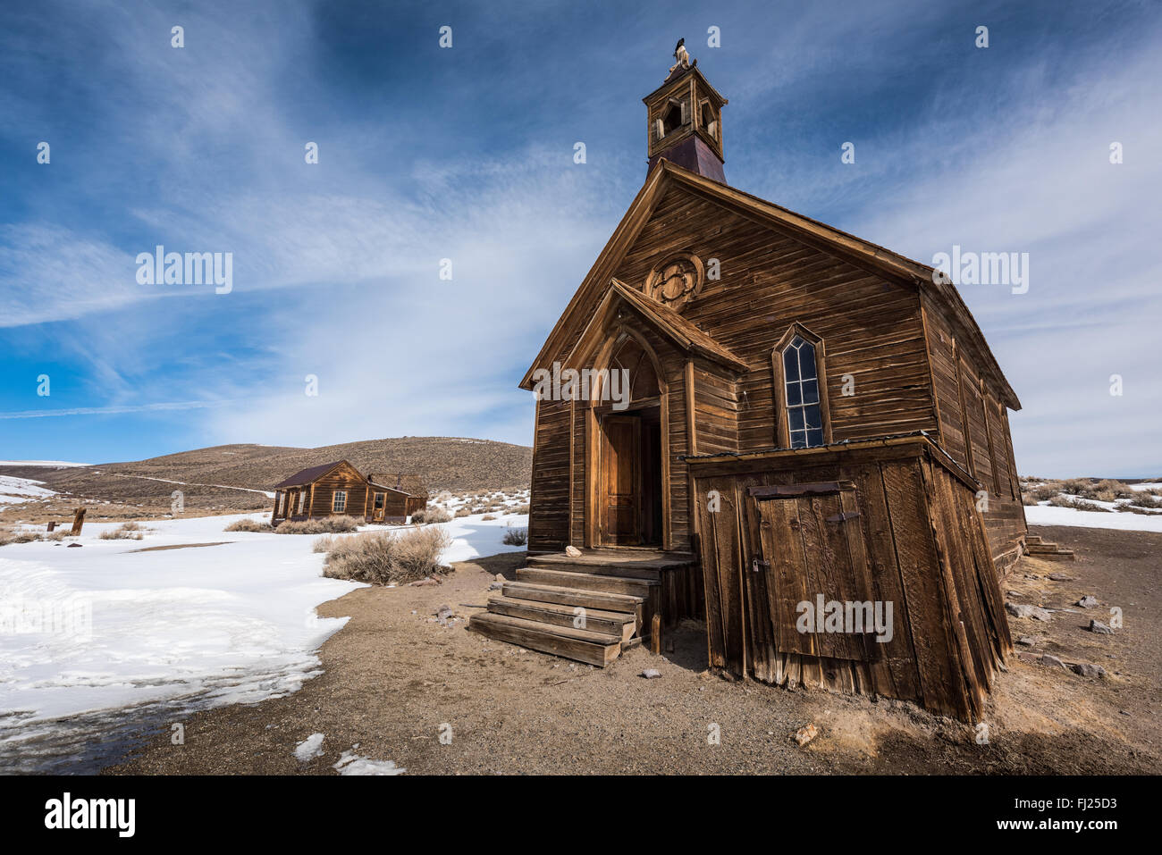 Old church at Bodie ghost town. - Stock Image