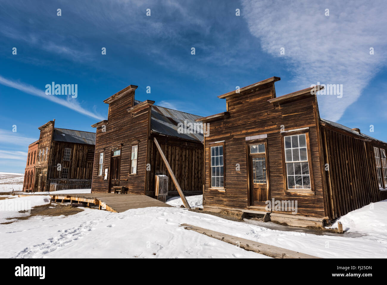 Buildings of Bodie ghost town. - Stock Image