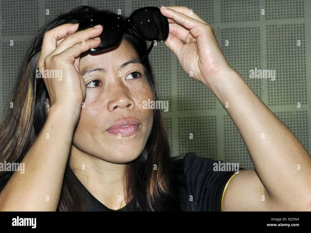 Who Will Fight For Stock Photos Images Andrew Smith Red Denim Merah 32 Patiala India 27th Aug 2014 Indian Women Boxer Mc Mary Kom