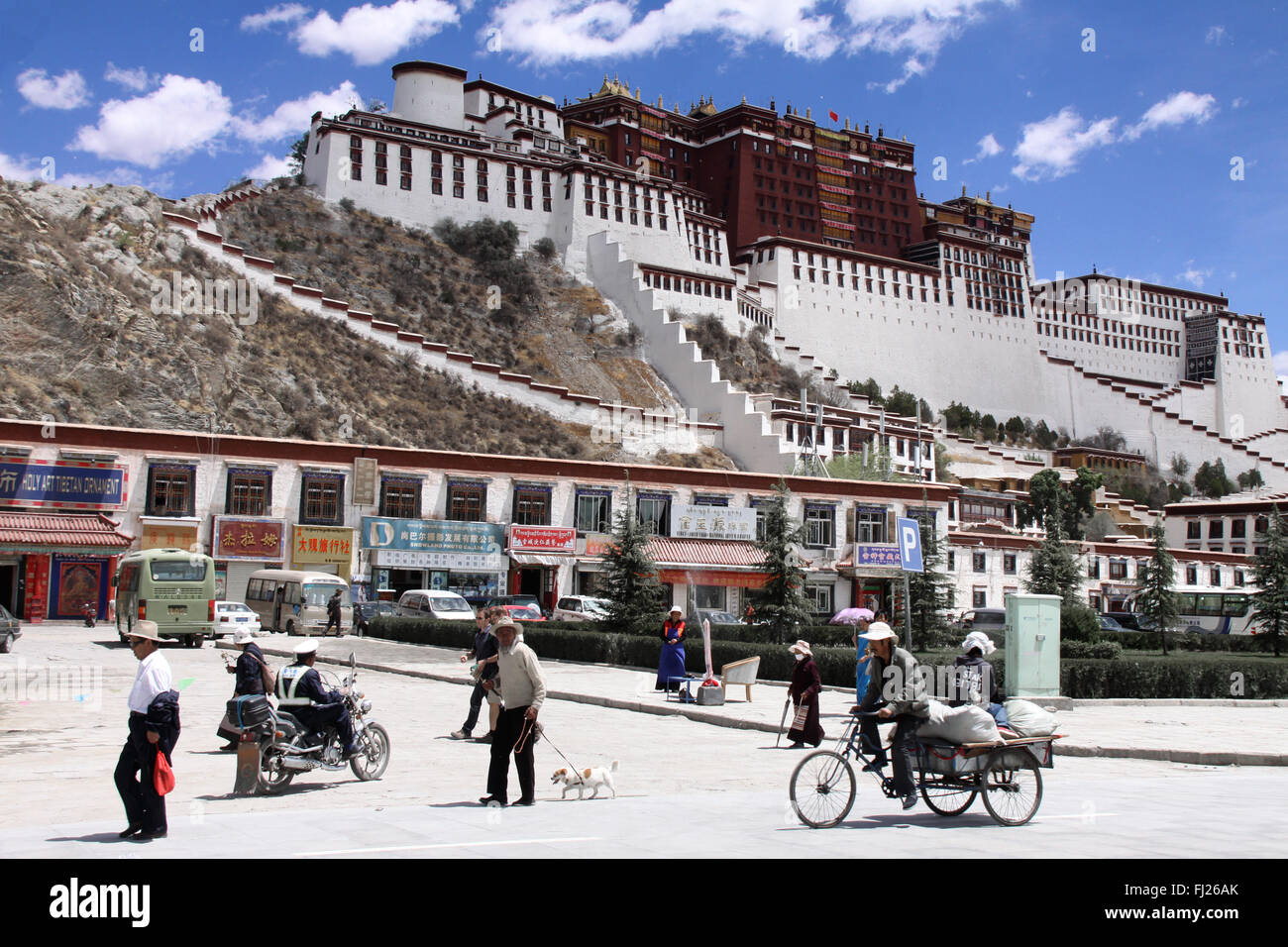 The legendary Potala palace  in Lhasa, Tibet - Stock Image