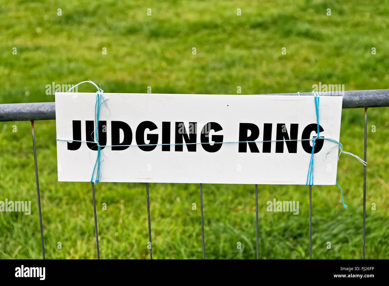 An animal judging ring sign at the 2015 Gillingham & Shaftesbury Agricultural Show in Dorset, United Kingdom. - Stock Image