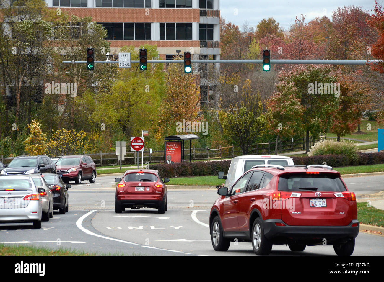 street scene in Bowie, Maryland - Stock Image