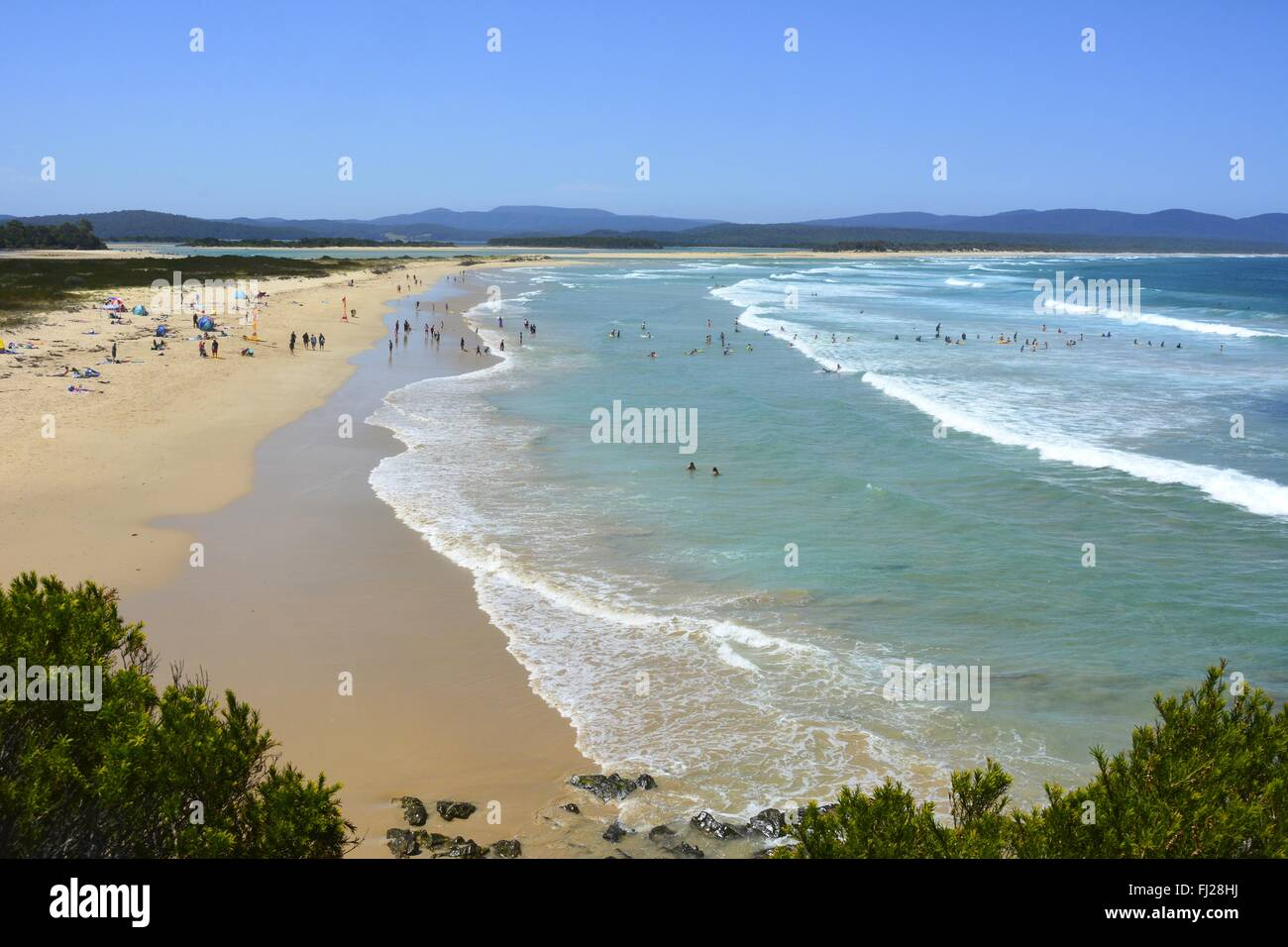 Bastion Point beach in Mallacoota, VIC. - Stock Image