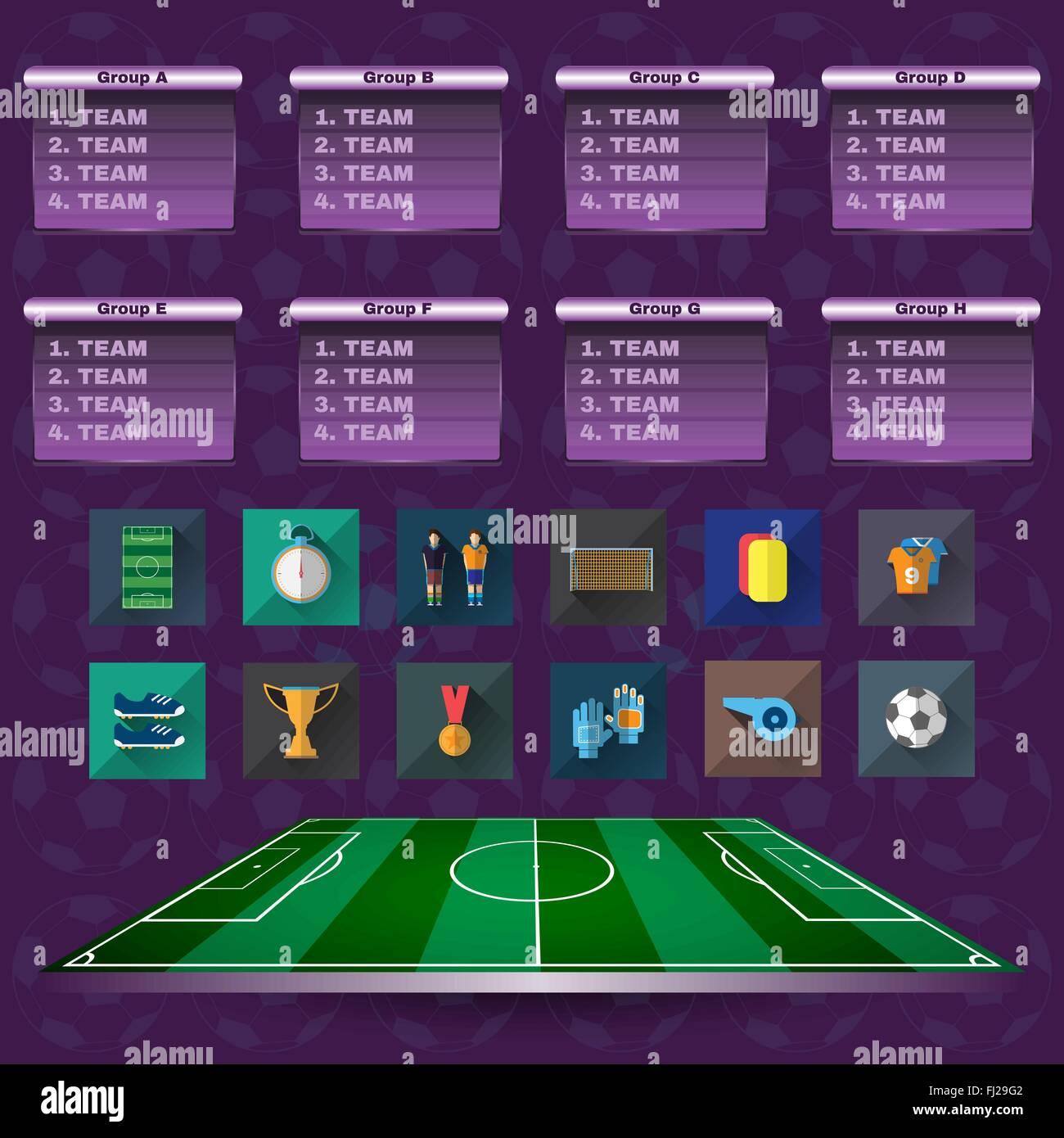 Soccer Scoreboard Champions Illustration  Soccer Match Table Stock
