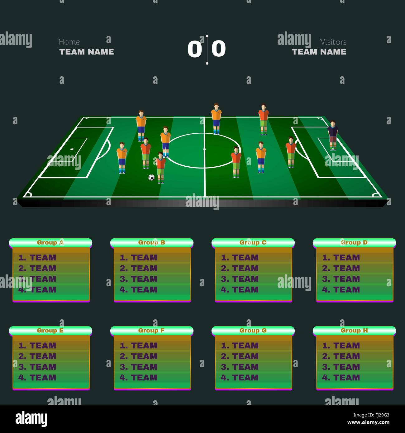 Soccer Playground Game Statistics  Sports Groups and Teams