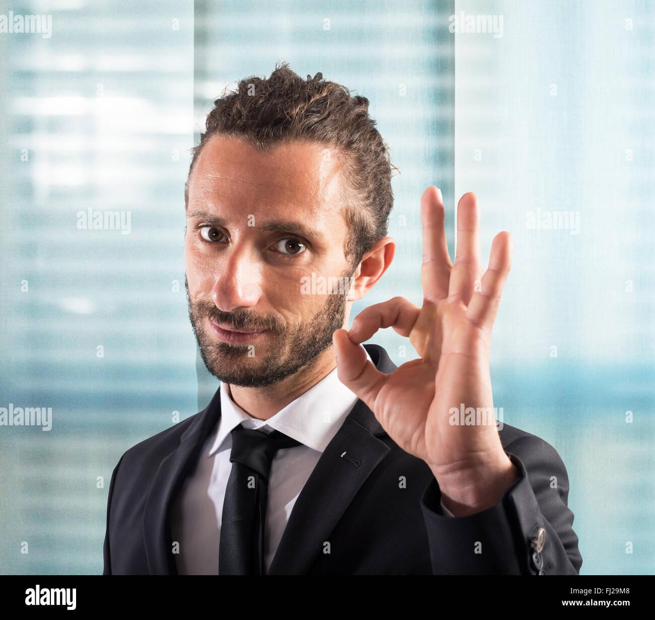 Ok businessman - Stock Image