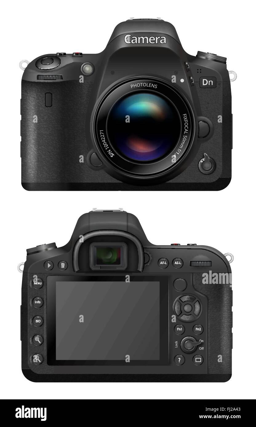 Vector SLR Camera - Stock Vector