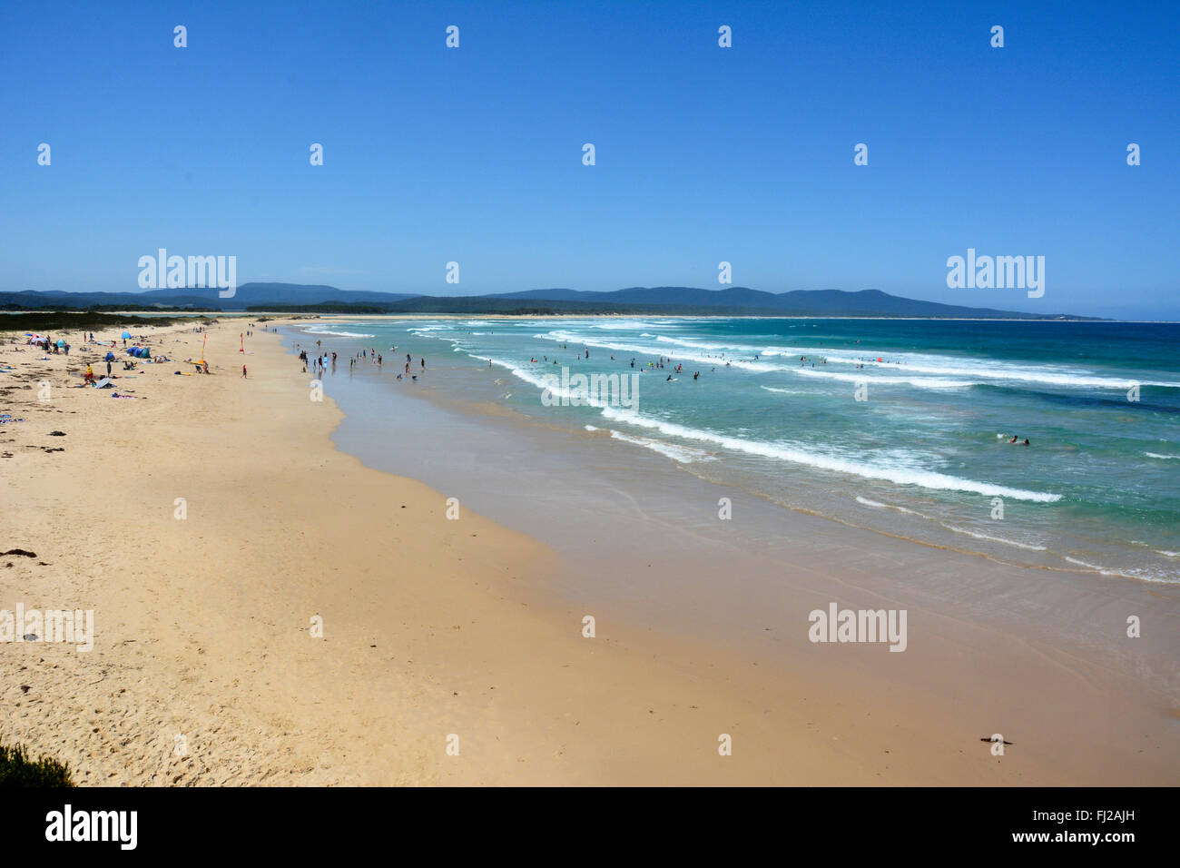 Bastion Point beach in Mallacoota, VIC - Stock Image