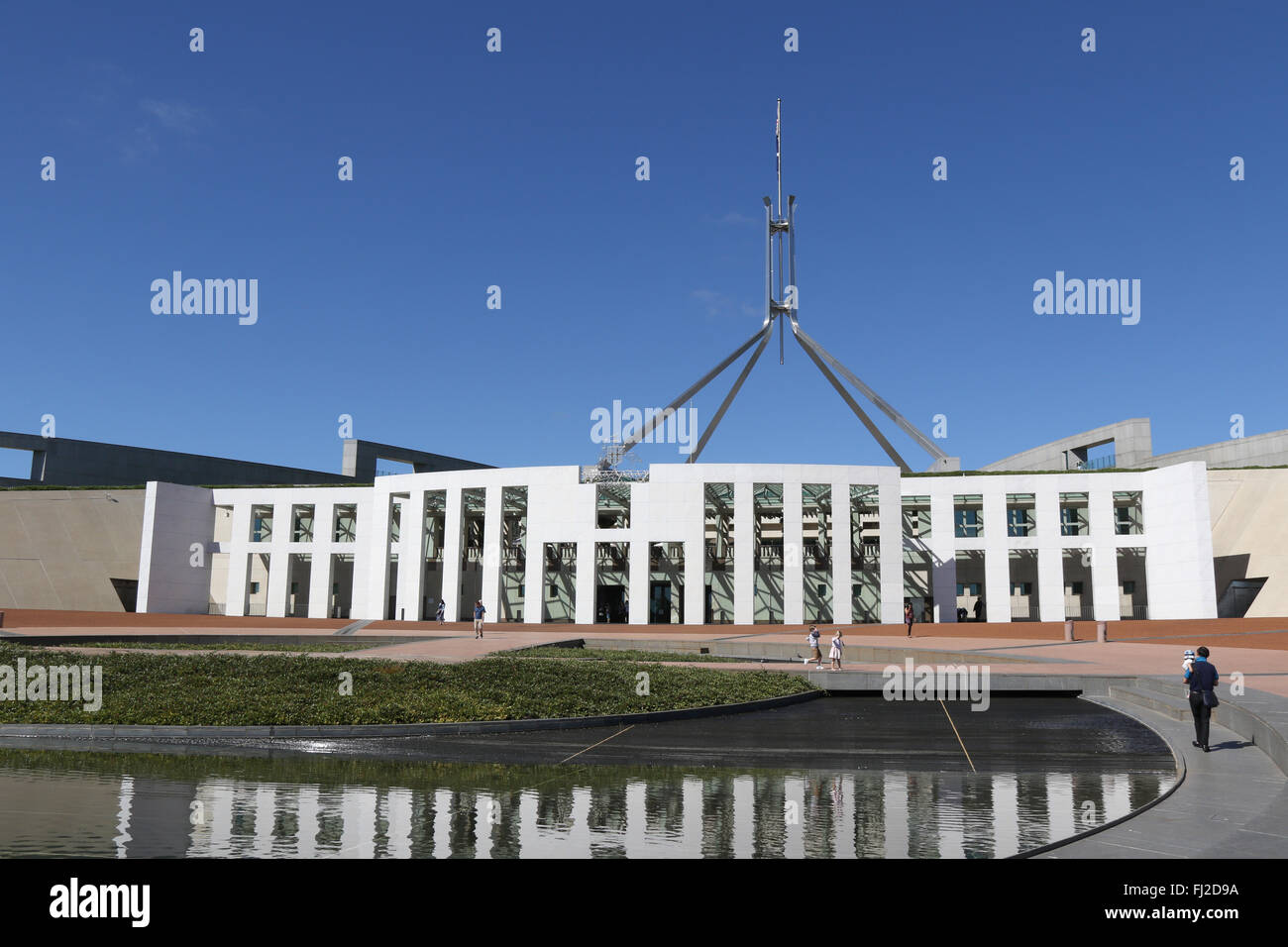 Australian Parliament House at Capital Hill in Canberra Stock Photo