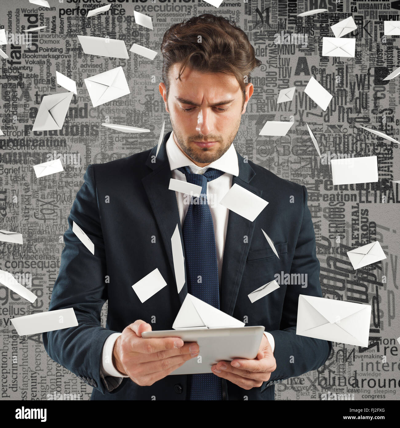 Stressed spam - Stock Image