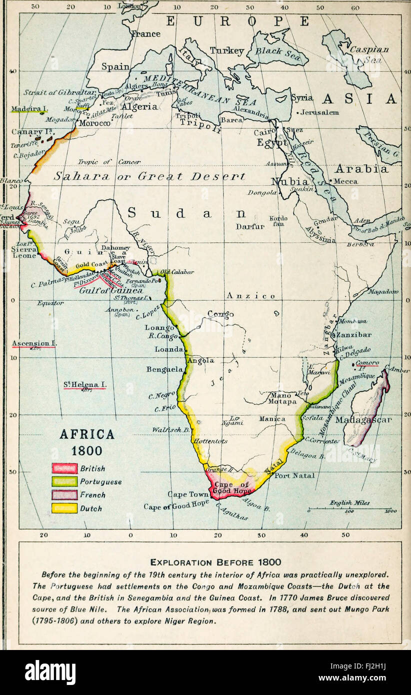 Map Of Africa 1800.Map Of Africa 1800 Stock Photo 97172926 Alamy