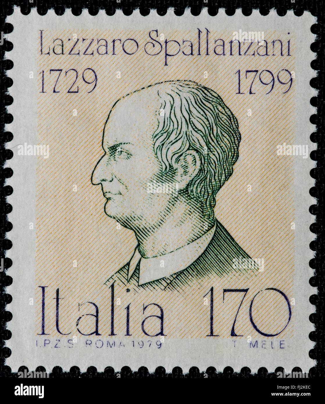1979 - Italian mint stamp issued to celebrate Lazzaro Spallanzani Lire 170 Stock Photo