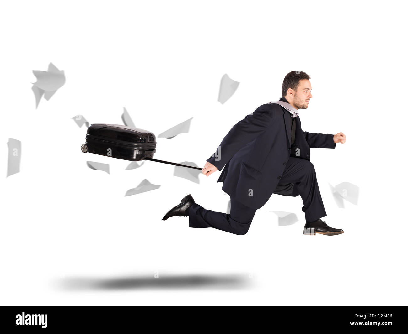 Overdue businessman - Stock Image