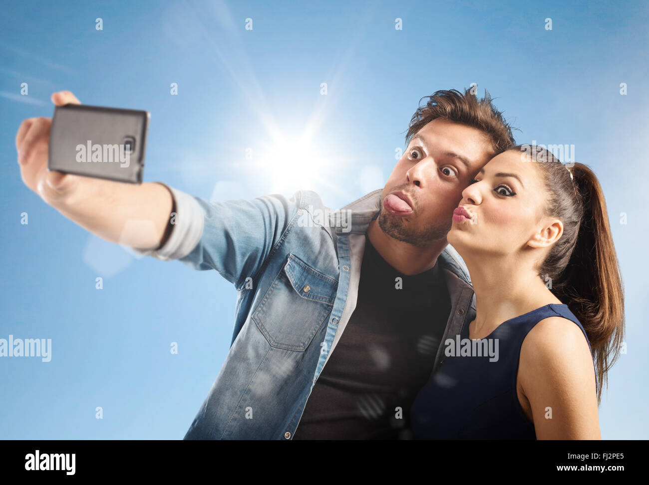 Selfie couple - Stock Image