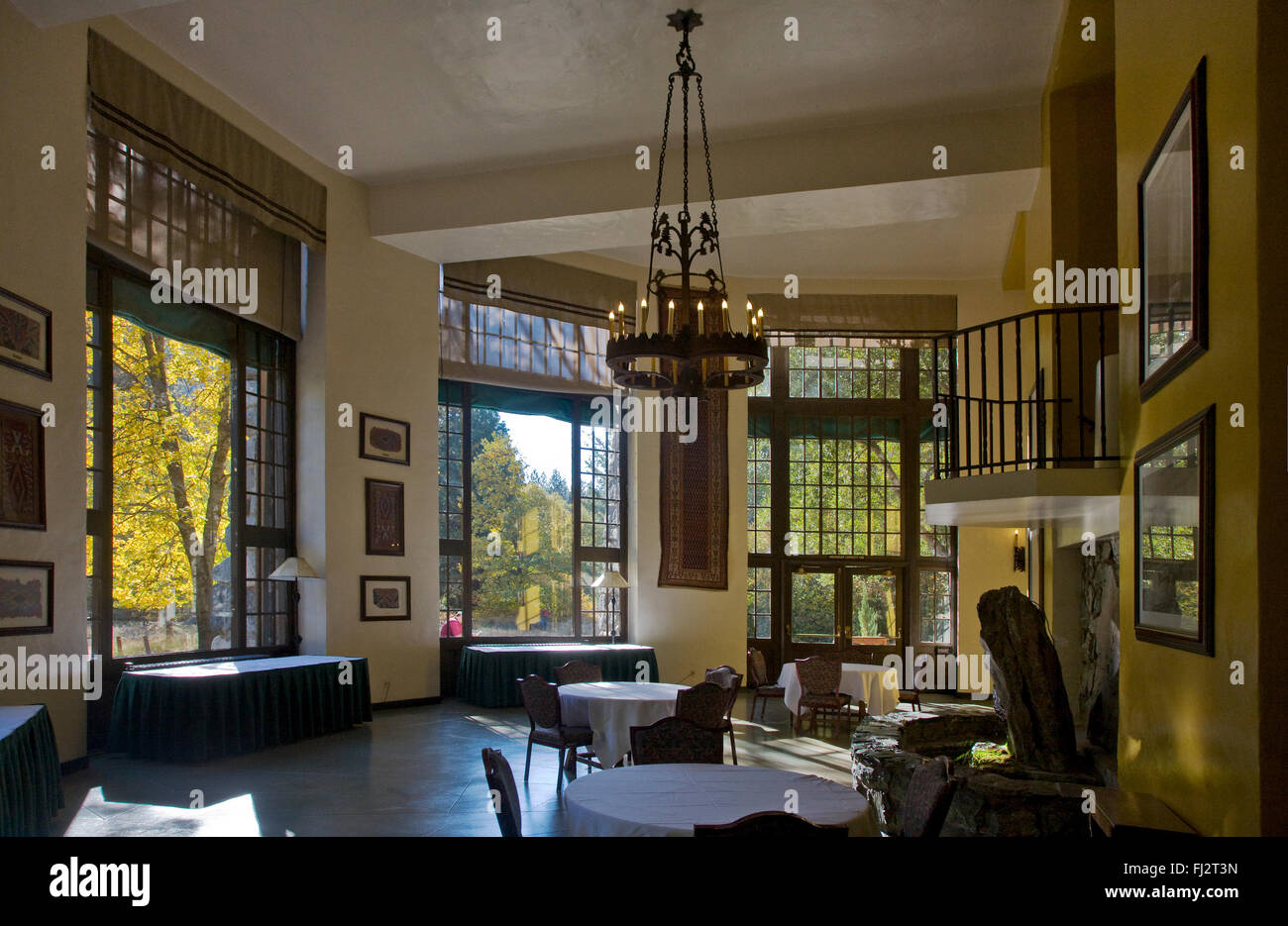 Interior of the AHWAHNEE HOTEL, built in 1925 and was designed by Stock Photo: 97178473 - Alamy