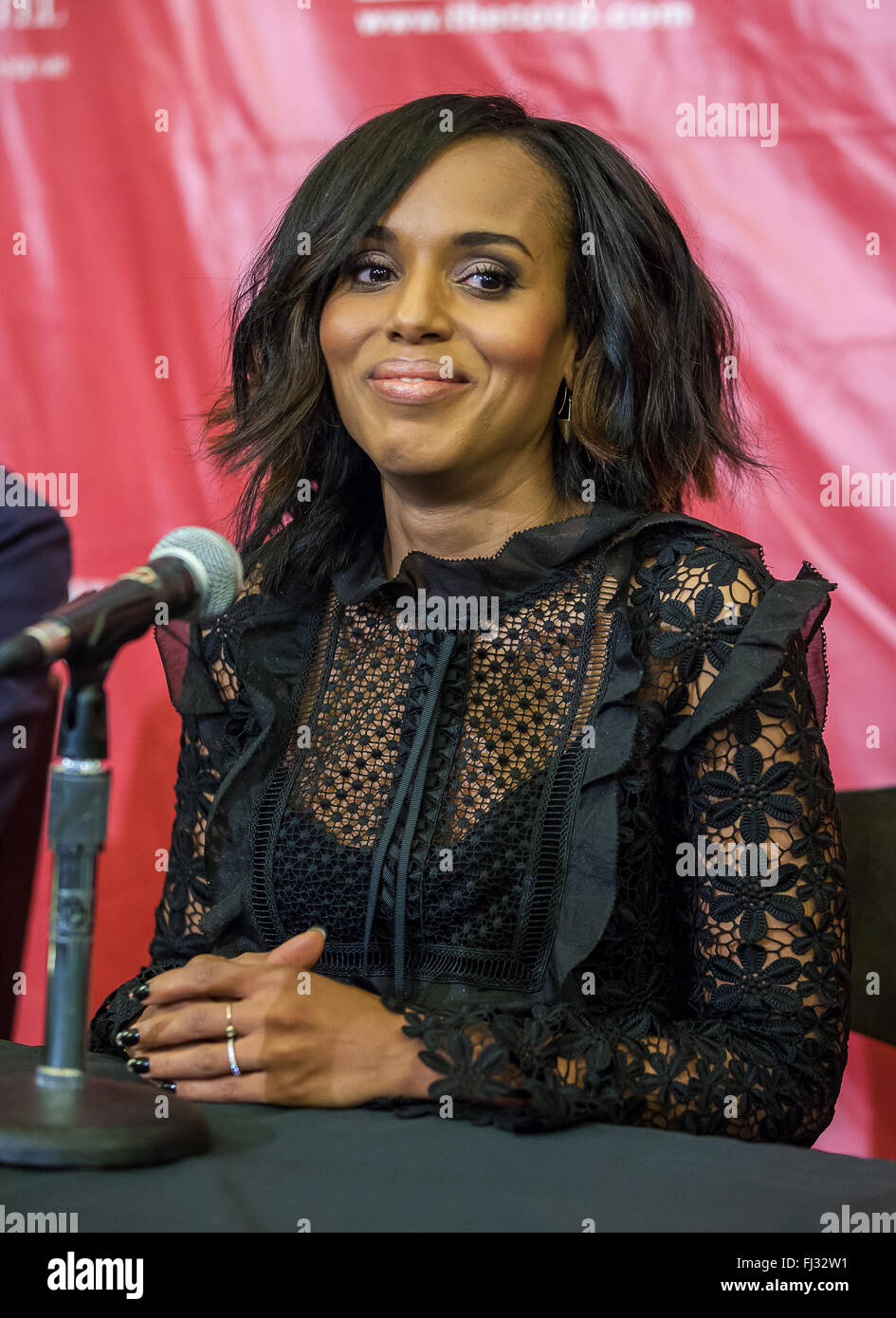 Kerry Washington is named the Hasty Pudding Theatricals Annual 'Woman of the Year' at Harvard University. The Hollywood Stock Photo