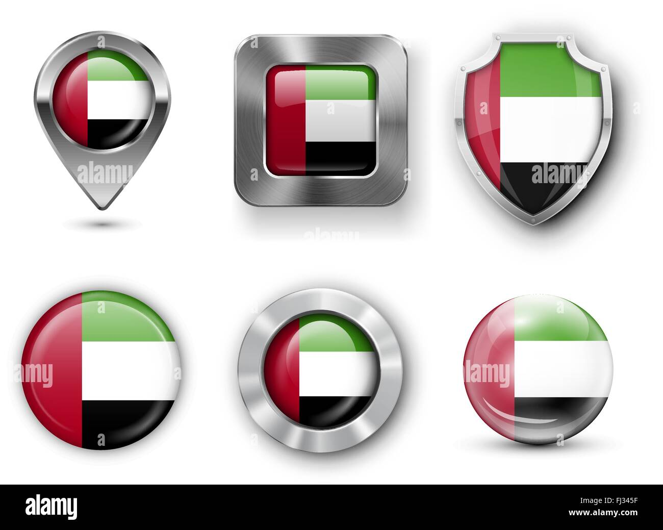 Country Flag Bages Stock Vector