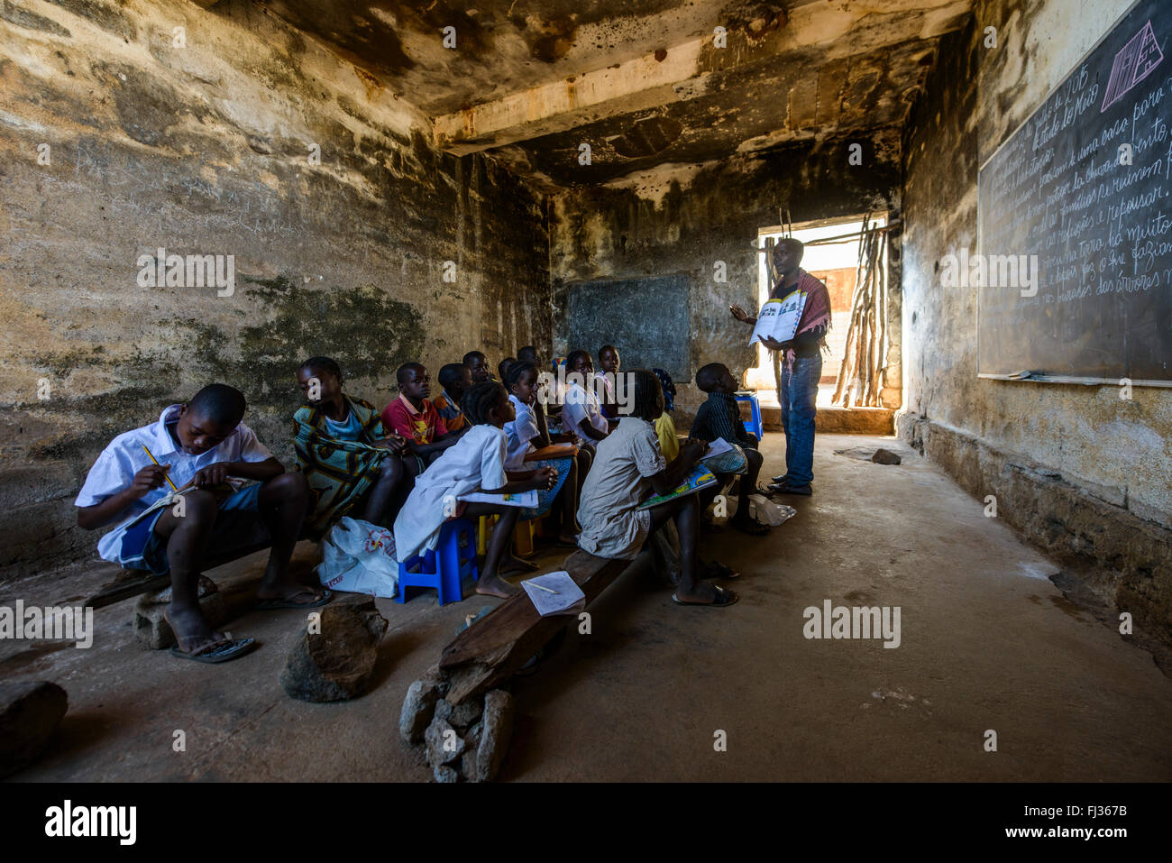 A rural school, Angola, Africa - Stock Image
