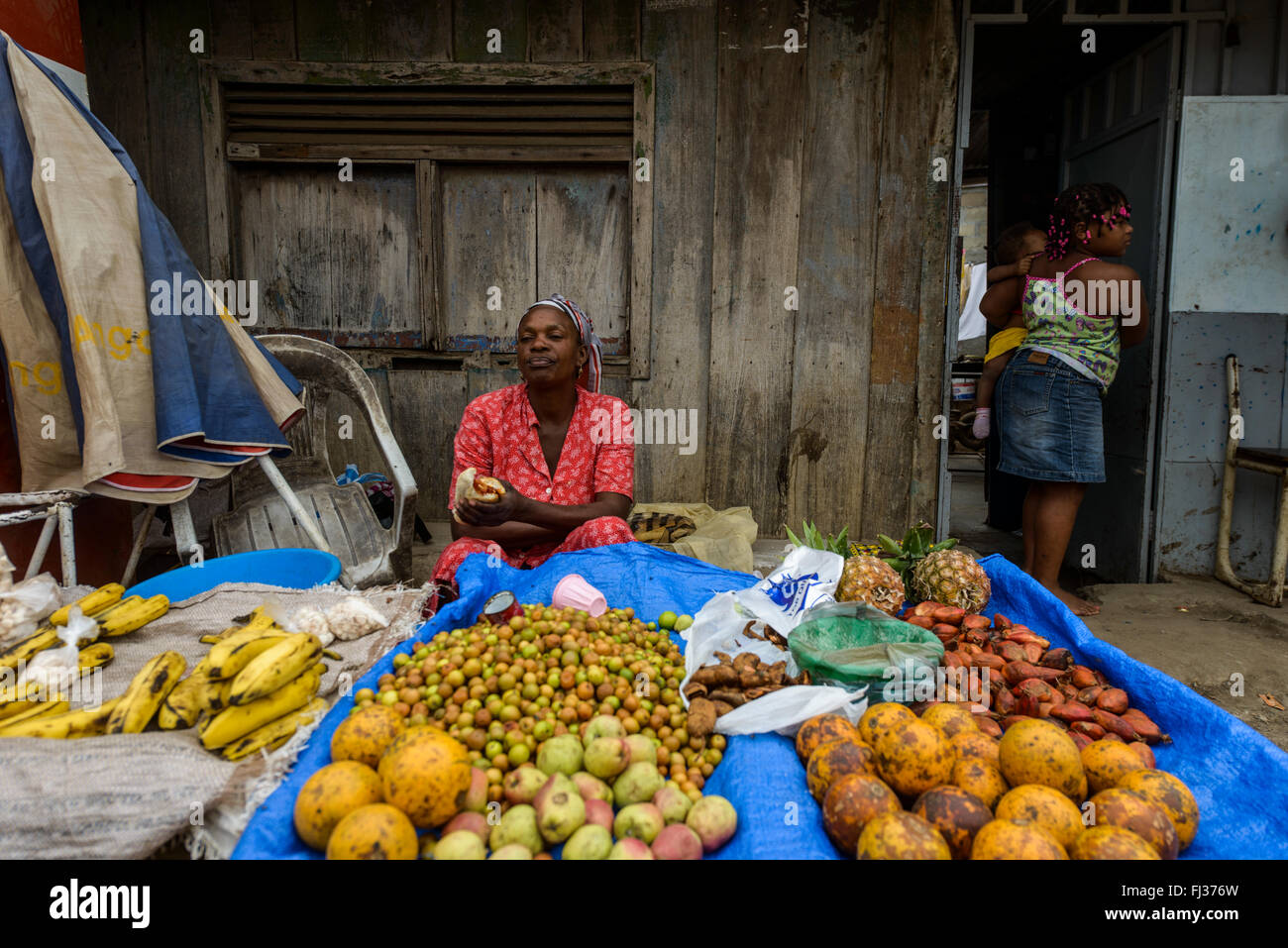 Life in Bairro Rangel, Luanda, Angola, Africa Stock Photo