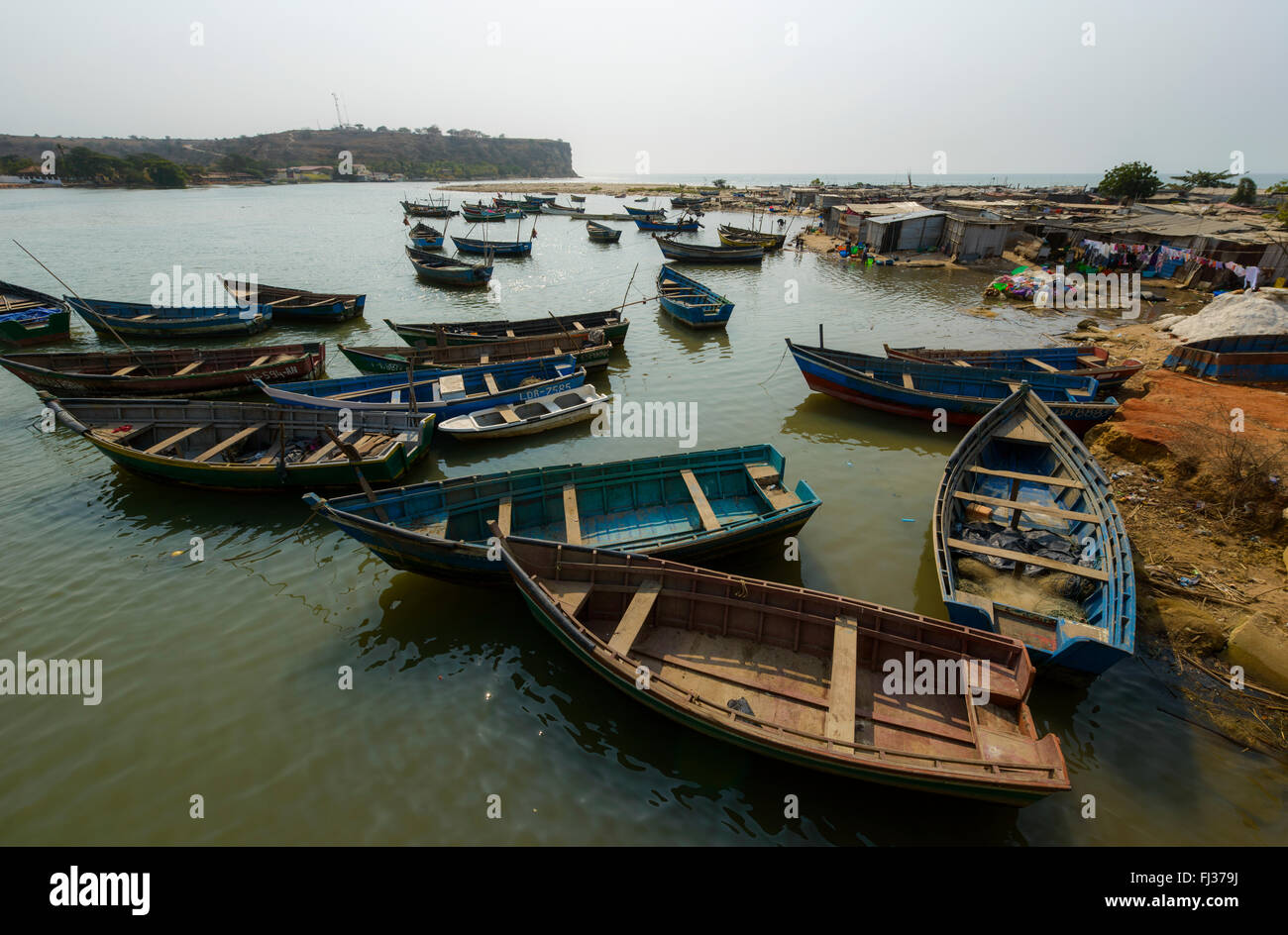 Fishing boats, Angola, Africa - Stock Image