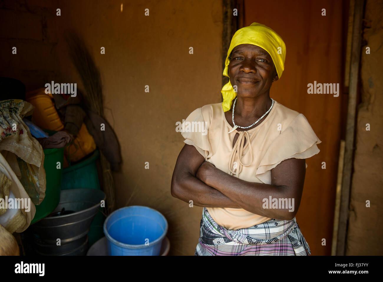 Angolan woman, Angola, Africa - Stock Image