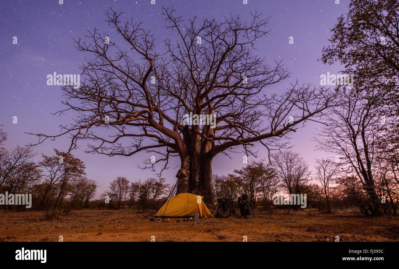 Camping in Angola, Africa - Stock Image