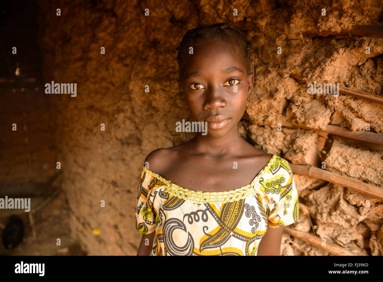 UNHCR refugee camp for the Fulani people, Cameroon, Africa - Stock Image