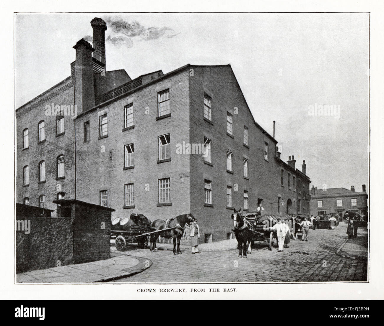 Crown Brewery, Bolton, Magee & Marshall, 1890 photograph of the Bolton brewery built in 1866, the business founded - Stock Image