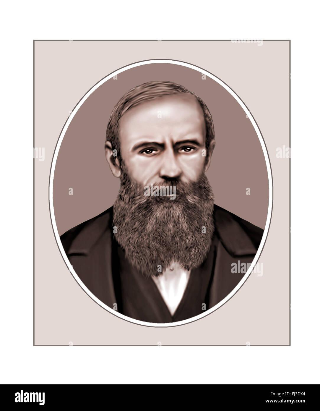 Fyodor Mikhailovich Dostoevsky, Novelist, Portrait - Stock Image