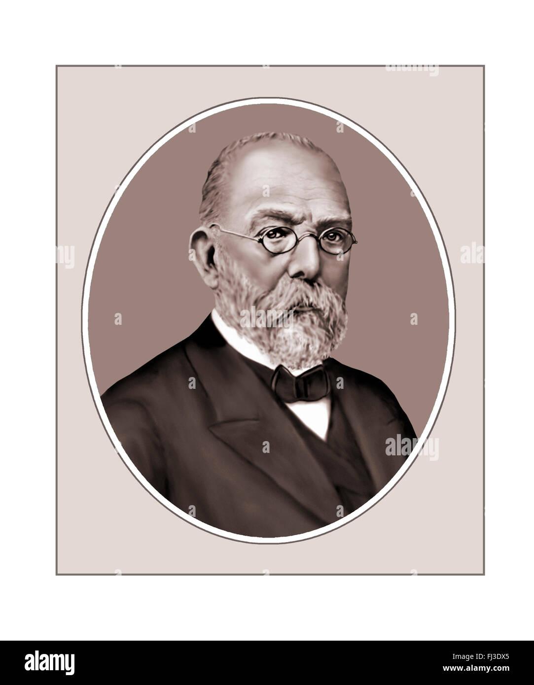 Robert Koch, Bacteriologist, Portrait - Stock Image