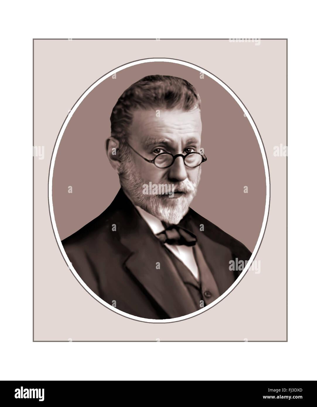 Paul Ehrlich, Bacteriologist, Portrait - Stock Image