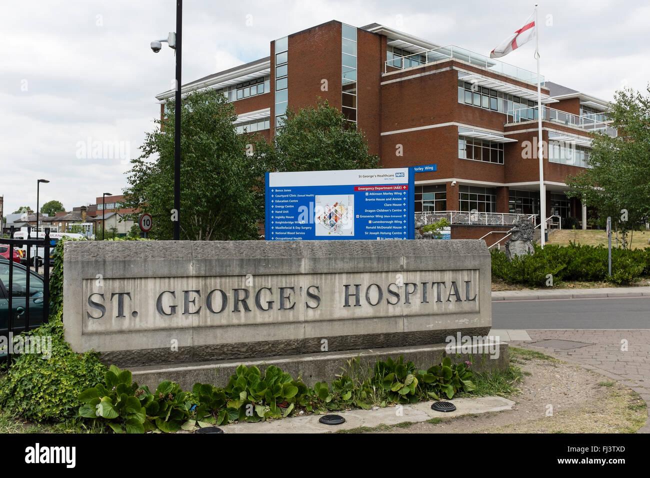 St George's Hospital, Tooting, London, UK Stock Photo